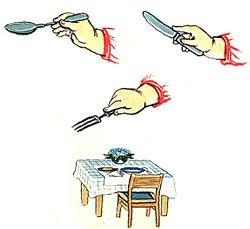Как научить ребенка пользоваться ложкой и вилкой