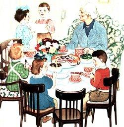 Нужно ли детям принимать участие в праздничном обеде