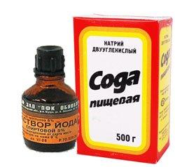 Лечение йодом и пищевой содой