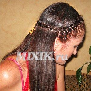 Мальвина с косами - Видео прическа своими руками