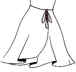 Как  раскроить   летнюю  юбку с запахом