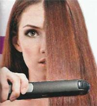 Выпрямляем волосы утюжком