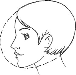 Профиль человека и силуэт стрижки